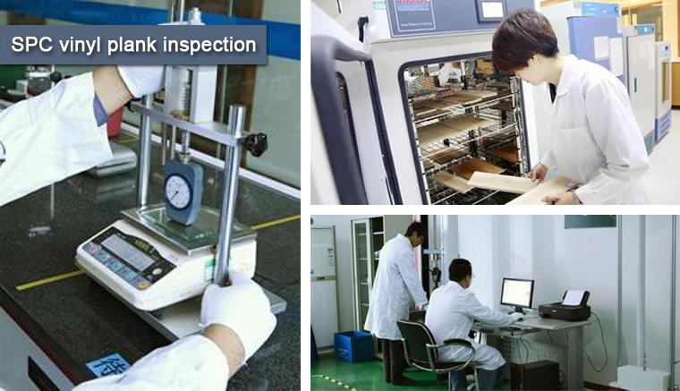 Inspección de planchas de vinilo SPC